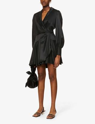 Zimmermann Wrap silk mini dress