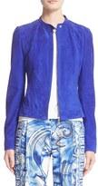 Versace Women's Suede Moto Jacket