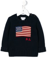 Ralph Lauren American flag jumper - kids - Cotton - 6 mth