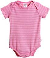 City Threads Soft Stripe S/S Snap Bodysuit - Purple/Lt. Pink Stitch - 12-18 Months
