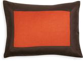 Jonathan Adler Orange and Brown Siam Silk Pillow