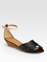 Marc by Marc Jacobs Two-Tone Leather Wedge Sandals