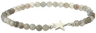 Dee Berkley Shining Star Sterling Silver and Labradorite Bracelet (Gray) Bracelet