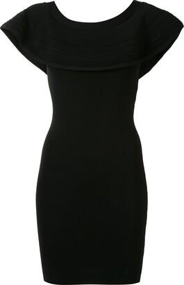 Paule Ka Ruffled Off-Shoulder Mini Dress