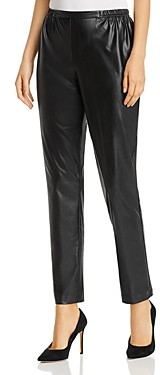 Caroline Rose Faux-Leather Skinny Pants