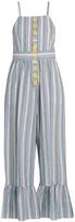 See by Chloe Striped seersucker jumpsuit