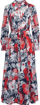 Rixo Maddison Printed Cotton Midi Shirt Dress