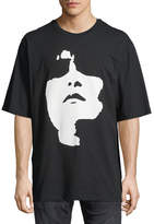 Neil Barrett Siouxsie Sioux Face Graphic T-Shirt
