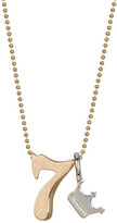 Alex Woo 14K Yellow Gold & Sterling Silver Little Number '7' Pendant Necklace