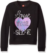 Hanes Big Girls' Ecosmart Graphic Fleece Sweatshirt