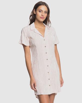 Roxy Womens Secretly In Love Striped Buttoned Mini Dress