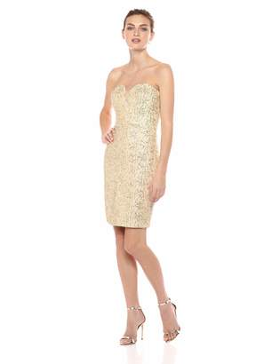 Wow Couture Women's Sleeves Bodycon Dress with Lurex Crochet Detail All Over