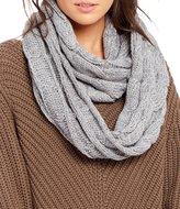 C.C. BEANIES Marled Cable-Knit Infinity Scarf