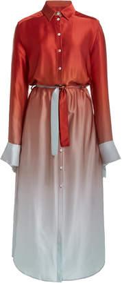 Christopher Esber Button Up Slim Shirt Dress