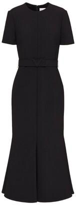 Valentino Initial-Belt Midi Dress