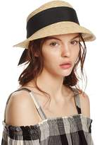 Aqua Straw Cloche Hat with Bow Back - 100% Exclusive