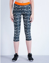 The Upside Jungle Shibori neoprene capri leggings