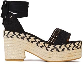Castaner Xia Woven Cotton Platform Espadrille Sandals