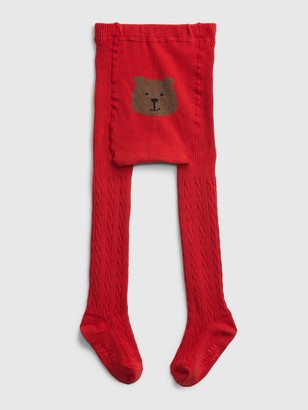 Gap Baby Cable-Knit Bear Tights