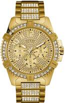 GUESS Gold-Tone Showstopping Presence Watch