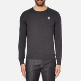 Carven Men's Small Logo Jumper Gris Chine