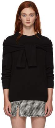 Alexander Wang Black Shoulder Tie Sweater