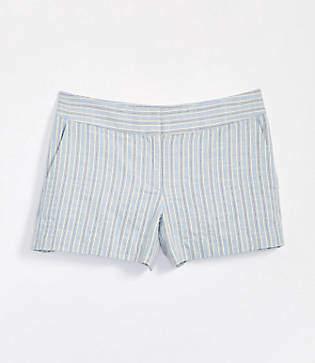 LOFT Petite Striped Rivera Shorts with 3 1/2 Inch Inseam