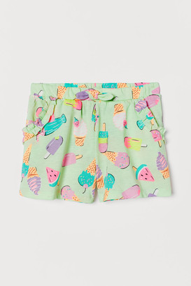 H&M Cotton Jersey Shorts - Green