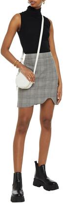 Ganni Checked Jacquard Mini Skirt
