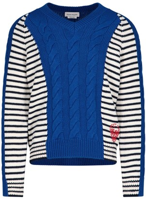Alexander McQueen Striped Knitted Sweater