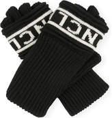 Moncler Logo wool fingerless gloves