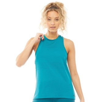 Reebok Womens One Series Perforated Tank Top Seaport Teal