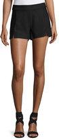 Ramy Brook Adele Slit-Front Shorts, Black