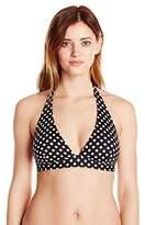Lark & Ro Lark Ro Women's Dot Built-Up Halter Bikini Top