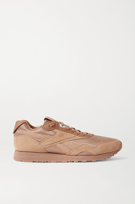 Reebok x Victoria Beckham Rapide Mesh, Suede And Leather Sneakers - Tan