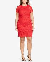 Lauren Ralph Lauren Plus Size Lace Sheath Dress