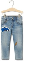 Gap 1969 Comic Patches Slim Jeans