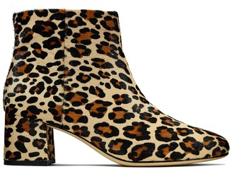 Clarks Animal Print Heeled Boots