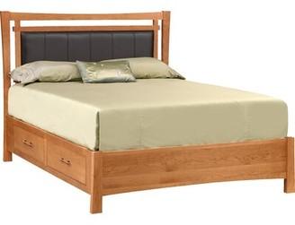 Copeland Furniture Monterey Upholstered Storage Platform Bed Copeland Furniture Size: California King, Frame Color: Autumn Cherry, Headboard Color: Sand