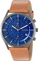 Skagen Men's SKW6285 Holst Light Titanium Leather Watch