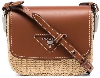 Prada City wicker shoulder bag