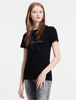 Calvin Klein Jeans Fitted Mercerized Logo T-Shirt