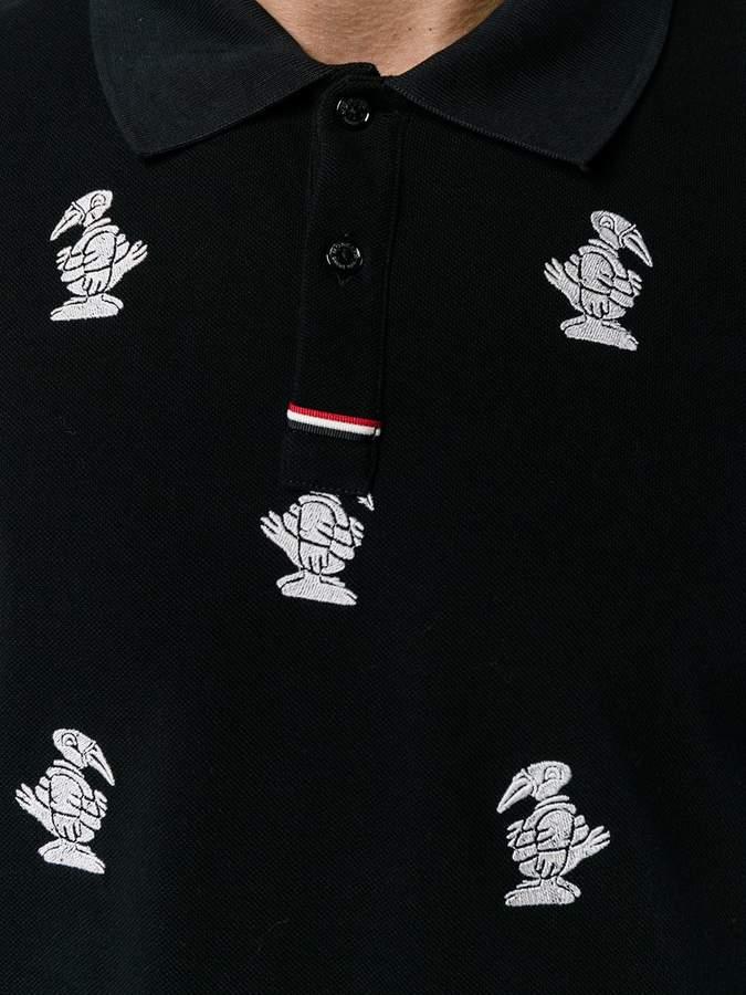 Moncler Gamme Bleu Goose Embroidered Polo Shirt