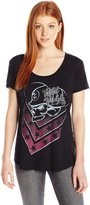 Metal Mulisha Junior's Corey Scoop Neck Burnout Graphic Tee