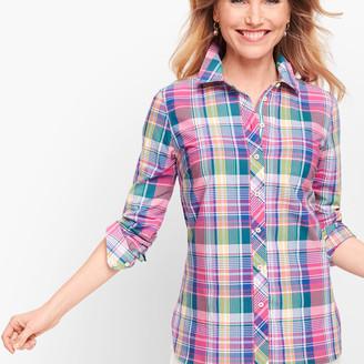 Talbots Classic Cotton Shirt - Madras