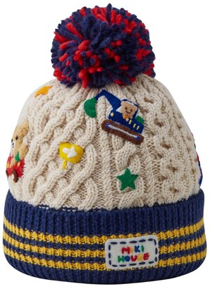 Mikihouse Miki House Felt Applique Hat