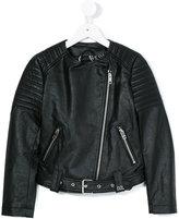 Diesel biker jacket - kids - Polyester/Polyurethane/Viscose - 8 yrs