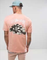 Stussy T-shirt With Roses Back Print