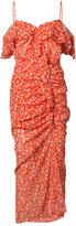 Veronica Beard cold shoulder floral dress - women - Silk - 0