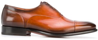 Santoni burnished Oxford shoes